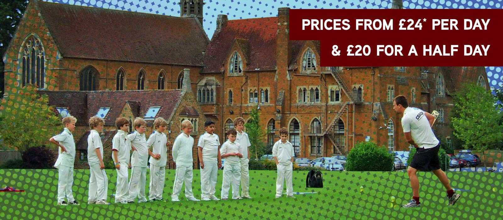 Prices from £24* per day & £20 for a half day
